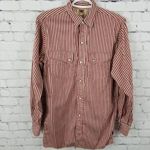 G&G   striped pearl snap collared western shirt